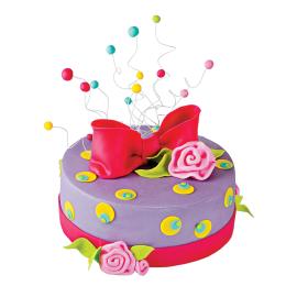 Торты на заказ Детский торт с розами и бантом