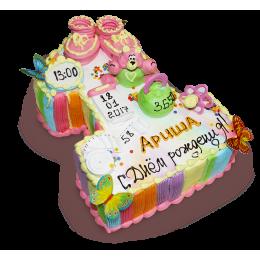Детский торт на год с фигурками