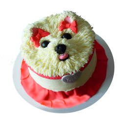Children's cake with a dog