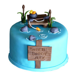 Cake for a fisherman