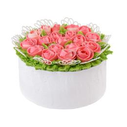 Торт праздничный с нежнейшими тюльпанами