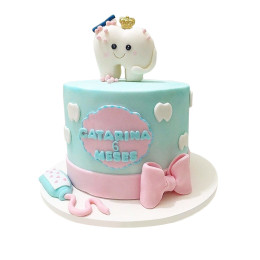 Детский торт зубик