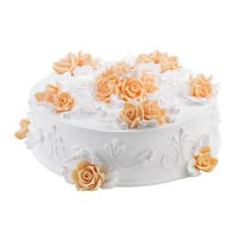 Торт праздничный без мастики с нежнейшими цветами