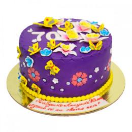 Birthday cake for grandma with flowers