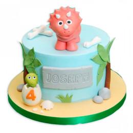 Детский торт с динозавриками