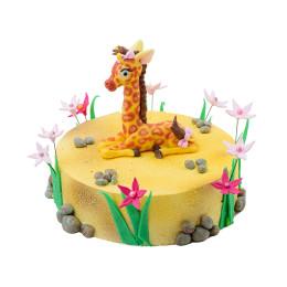 Детский торт с фигуркой жирафа