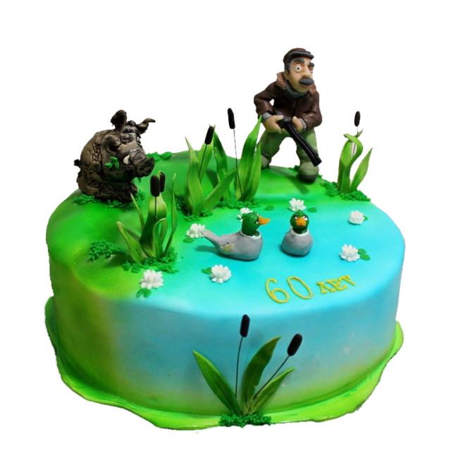 вино торт для охотника и рыбака фото бён хон отлично