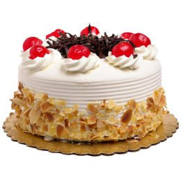 Торт праздничный с вишнями