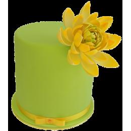 Торт с ярким бутоном цветка