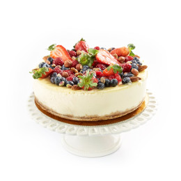 Cake festive cheesecake decorated with assorted berries