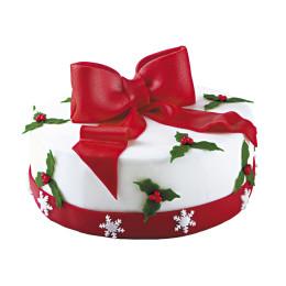 Торт на Новый год  в виде подарка с бантом