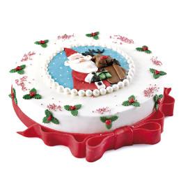 Новогодний торт с фотопечатью Деда Мороза