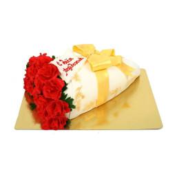 Торт праздничный в форме букета на день рождение