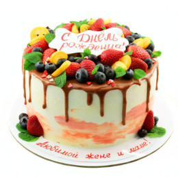 一个节日蛋糕为你心爱的妻子和母亲的任何假期