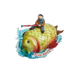 Торты на заказ Для рыбаков