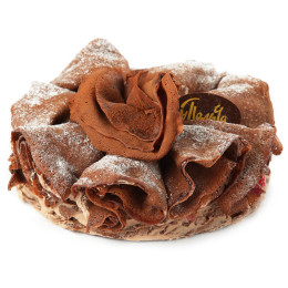 Торт Блинный вишня-шоколад