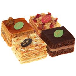Набор мини тортов Малиновый, Прага, Наполеон, Медовая фантазия